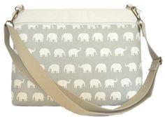 Gray Elephants Laptop Bag