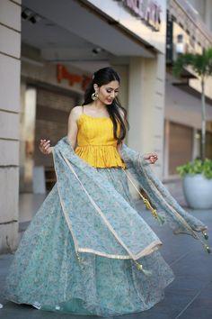 Floral Lehenga, Victorian, Shopping, Dresses, Fashion, Vestidos, Moda, Fashion Styles, Dress