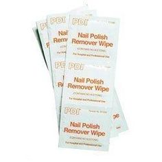 PDI Nail Polish Remover Pads. Contains no Acetone. 1 Box of 100 Pads.
