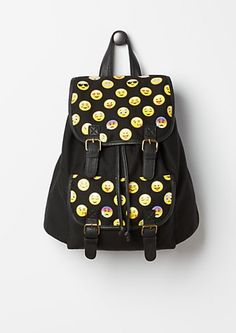 Emoji Canvas Backpack | rue21 I want this back pack so bad!