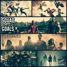 Squad Goals #dccomics #marvel #allthingsdcmarvel  Via...