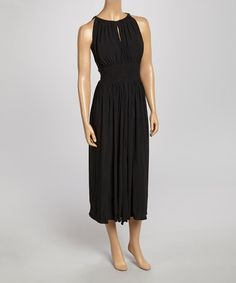 Another great find on #zulily! Black Beaded Midi Dress #zulilyfinds