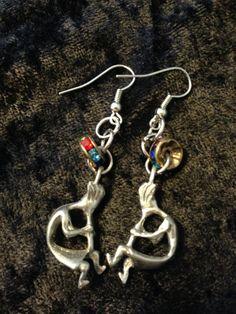Kokopeli Earrings by CraftyOlBats on Etsy