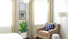 Two Bedroom, Bedroom Colors, Girls Bedroom, Ikea Curtains, White Curtains, Bedroom Curtains, Little Girl Bedrooms, Bedroom Furniture, Bedroom Decor