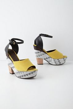 Canary Grade Weels #anthropologie (my son gave me permission to buy these today)