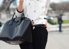 #givenchy bag and eiffel tower shirt