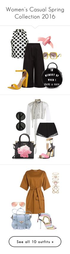 """Women's Casual Spring Collection 2016"" by toniyakira on Polyvore featuring Noon by Noor, Killstar, Steve Madden, Biba, Elizabeth Arden, Paule Ka, Princesse tam.tam, Calvin Klein, Michael Kors and Linda Farrow"
