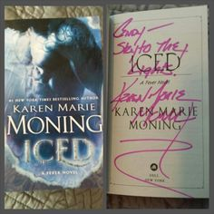The book I won from Karen Marie Moning! :-)