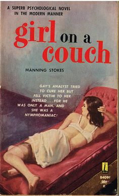 Vintage Illustrations Girl on a Couch pulp fiction cover - The Best Of The Worst Pulp Fiction Comics, Pulp Fiction Book, Roman, Vintage Book Covers, Vintage Books, Pulp Magazine, Up Book, Travel Humor, Book Cover Art