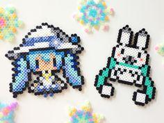 Vocaloid Hatsune Miku perler beads. By:http://www.pixiv.net/member.php?id=6979013