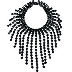Huge Jet Crystal Bib | From a unique collection of vintage drop necklaces at http://www.1stdibs.com/jewelry/necklaces/drop-necklaces/