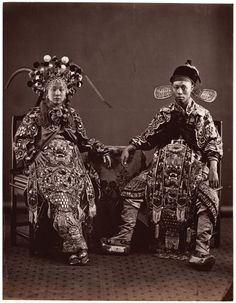 19th Century Studio Portrait, Hong Kong or China. These extraordinarily rare images are featured in the book Sheying: Shades of China 1850-1900.