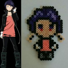 Kyoka Jiro My Hero Academia perler bead design Perler Bead Templates, Diy Perler Beads, Perler Bead Art, Perler Patterns, Pearler Beads, Anime Pixel Art, Pix Art, Iron Beads, Melting Beads