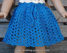 American girl crochet skirt free pattern