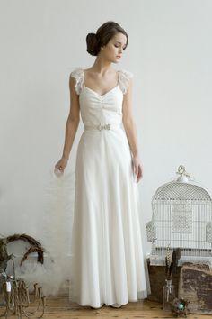 Elizabeth James wedding gown | Wedding Dress Swoonage- James, no peeking!