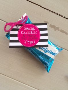 Cheerleading Good Luck Rice Krispie Treat Favor by EllaJaneCrafts Cheer Competition Gifts, Cheer Team Gifts, Dance Team Gifts, Cheer Camp, Dance Good Luck Gifts, Youth Cheer, Cheer Bows, Cheer Snacks, Cheer Treats