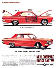 Dodge Dart Advertising (1963): The dependables built by Dodge! - Read the inside story... on the big compact that's selling big