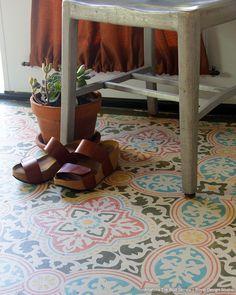 Decorative Concrete Stencils - Boho Chic Floor Stencils - Tile Stencils for Painting - Royal Design Studio