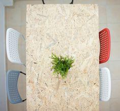 OSB diy table ADDE IKEA chairs