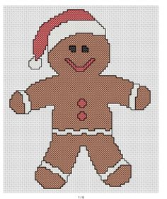 Just Cross Stitch Patterns Free | this is just a simple gingerbread man pattern i just realized there is ...