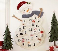 Classic Snowman Advent Calendar