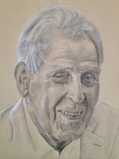 The old man - June 2015 - graphite and white pastel