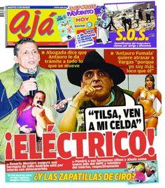 """La TAPA del día en Perú va para el diario """"Aja"""" y su parodia sobre Antauro Humala """"el eléctricop""""."""