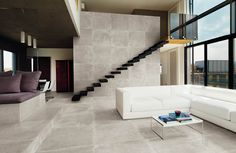 Sienna Petra Grey Natural 32x32 Porcelain Tile.
