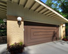 Modern Detached Garage - Modern - Garage - St Louis - by Mosby Building Arts Vintage House Plans, Overhead Garage Door, Modern Style House Plans, Wooden Garage, House Exterior, Modern Garage Doors, Modern Garage, Detached Garage Designs, Garage Door Design