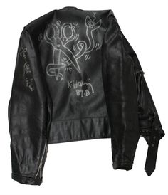 Leather Jacket (with Unique painting) by Keith Haring