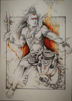 Shiva Art, Ganesha Art, Hindu Art, Lord Shiva Pics, Lord Shiva Hd Images, Shiva Parvati Images, Shiva Shakti, Hindu Deities, Hinduism