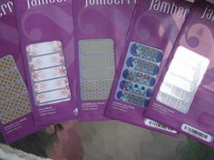 JAMBERRY  NAIL WRAPS LOT OF 5 NEW RETIRED HOSTESS MOON MANI PEDI TOES SUMMER #JAMBERRY