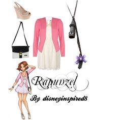 Rapunzel Disney High Princess by DisneyInspired8 on Polyvore