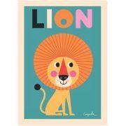 Poster - Lion - Ingela Arrhenius