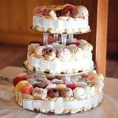 """Ice Cream Cone Cake! And like 20 other alternative """"cakes"""" from rice crispie treat to doughnut to a twinkie and sno ball and swiss roll mostrosity."""
