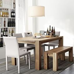 """Big Sur Natural 65"""" Dining Table in Dining, Kitchen Tables   Crate and Barrel"""