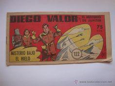 COMIC COMANDANTE ESPACIAL ESPACIO DIEGO VALOR Nº 122 DE LA COLECCION ORIGINAL DEL AÑO 1954 NO COPIA.
