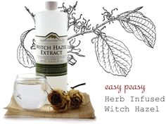 Herb-infused Witch Hazel recipes.