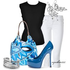 """Blue Heels"" by cynthia335 on Polyvore"