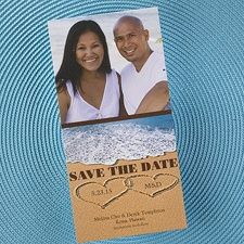 Hearts on the Beach - Photo Save the Date www.dmeventsanddesign.com