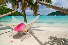 Enjoying the beach at Big Maho Bay, Virgin Islands National Park, St. John, US Virgin Islands