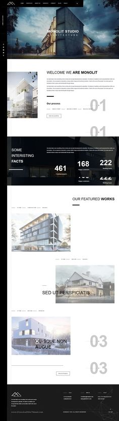 Monolit – Responsive Architecture WordPress Theme is perfect if you like a clean and modern #design #architects, furniture designers, photographers #website.