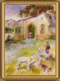 "Orbán utca - TABÁN*ANNO*GALERIA: ZÓRÁD ERNŐ ""100"" jubileumi tárlat Karl May, Jena, Budapest, Tao, 1980s, Something To Do, Illustrator, Watercolor, Painting"