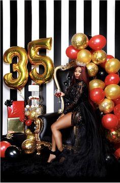 30th Birthday Themes, 30th Birthday Ideas For Women, Birthday Party Decorations For Adults, 36th Birthday, Birthday Goals, Birthday Woman, Glam Photoshoot, Photoshoot Themes, Birthday Girl Pictures
