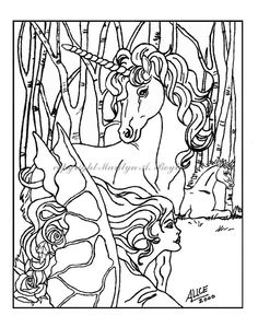 DIGITAL DOWNLOAD  POSTER or Coloring Page: by OriginalSandMore