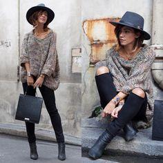 Zoé Alalouch - Herman Headwear Hat, Zara Knit, Zara Bag - COZY FALL OUTFIT | LOOKBOOK