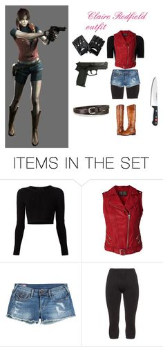 """Claire Redfield outfit"" by resident-evil-1 ❤ liked on Polyvore featuring art"