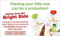 Happy Family is inviting you to share your funny food stories with them. By doing so you will have a chance to WIN $20,000 towards your child's college fund! #HFBrightside #sponsored