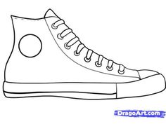 How to draw sneakers shoes with easy step by step drawing tutorial this is a coloring and writing prompt that is suitable to use from prek all the way up to first grade students can chose any color to use and write about maxwellsz