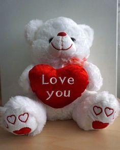 "11"" White COLOR VALENTINE'S DAY #TeddyBEAR,good quality plush #LoveYou Heart"